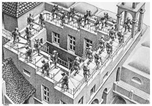 Escher - wchodzenie i schodzenie