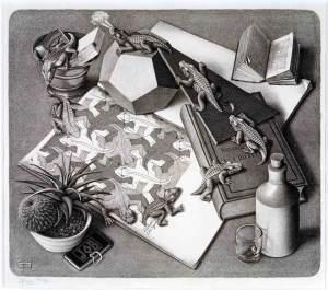 Escher - jaszczurki