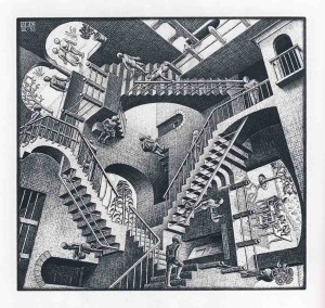 Escher - relatywność