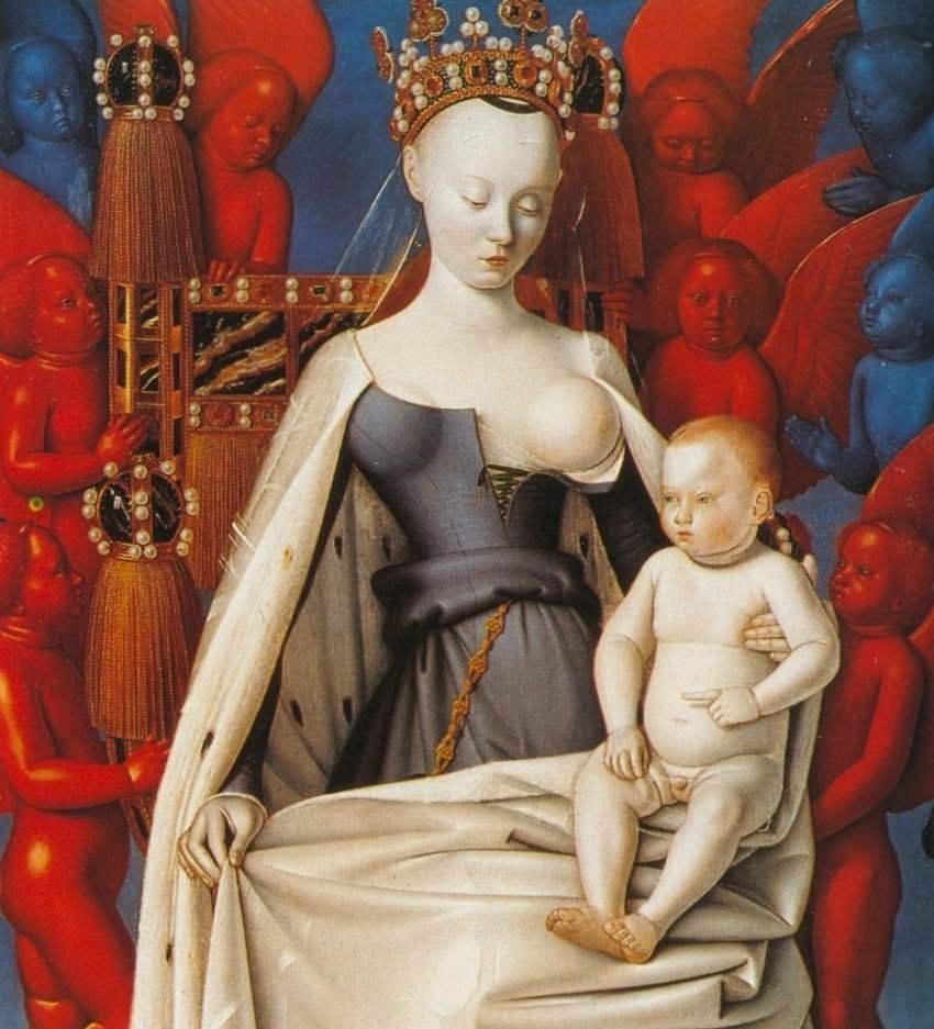 Dziewica z dzieciątkiem - Jaen Fouquet