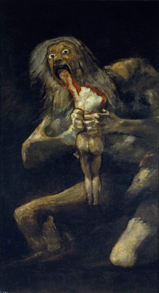 Saturn pożerający jedno ze swoich dzieci - Francisco Goya
