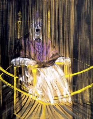 Studium według portretu papieża Innocentego X pędzla Diego Velaqueza –  Francis Bacon