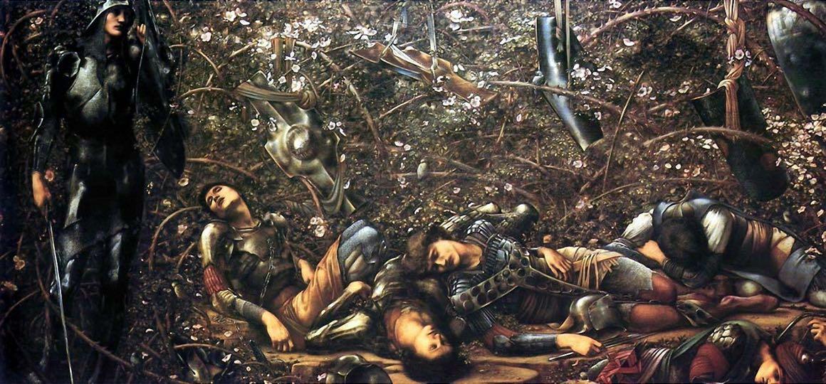 edward-burne-jones - the-briar-wood-1890