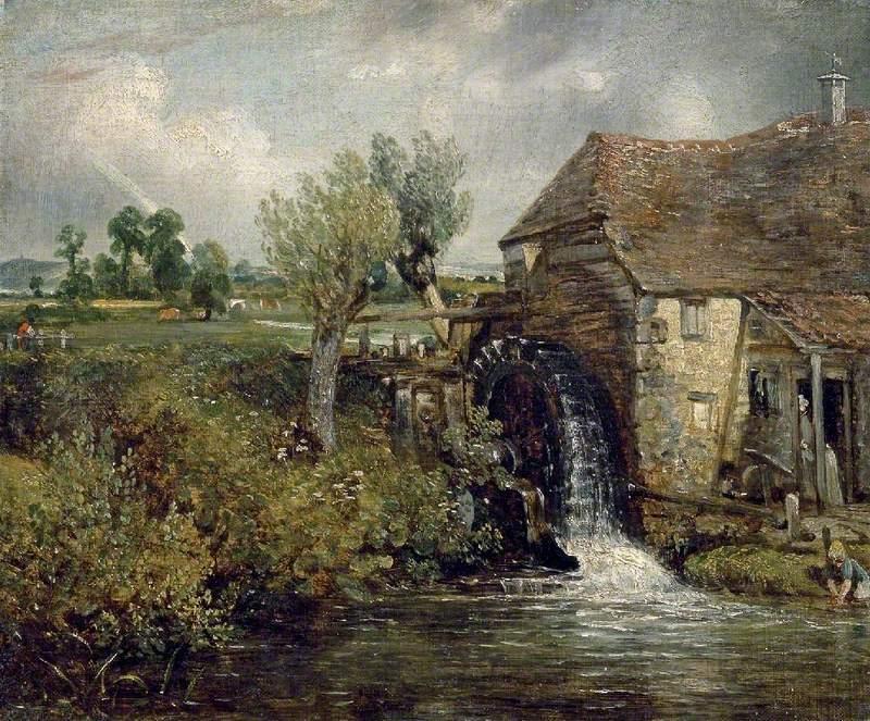 John Constable - Młyn Flatford