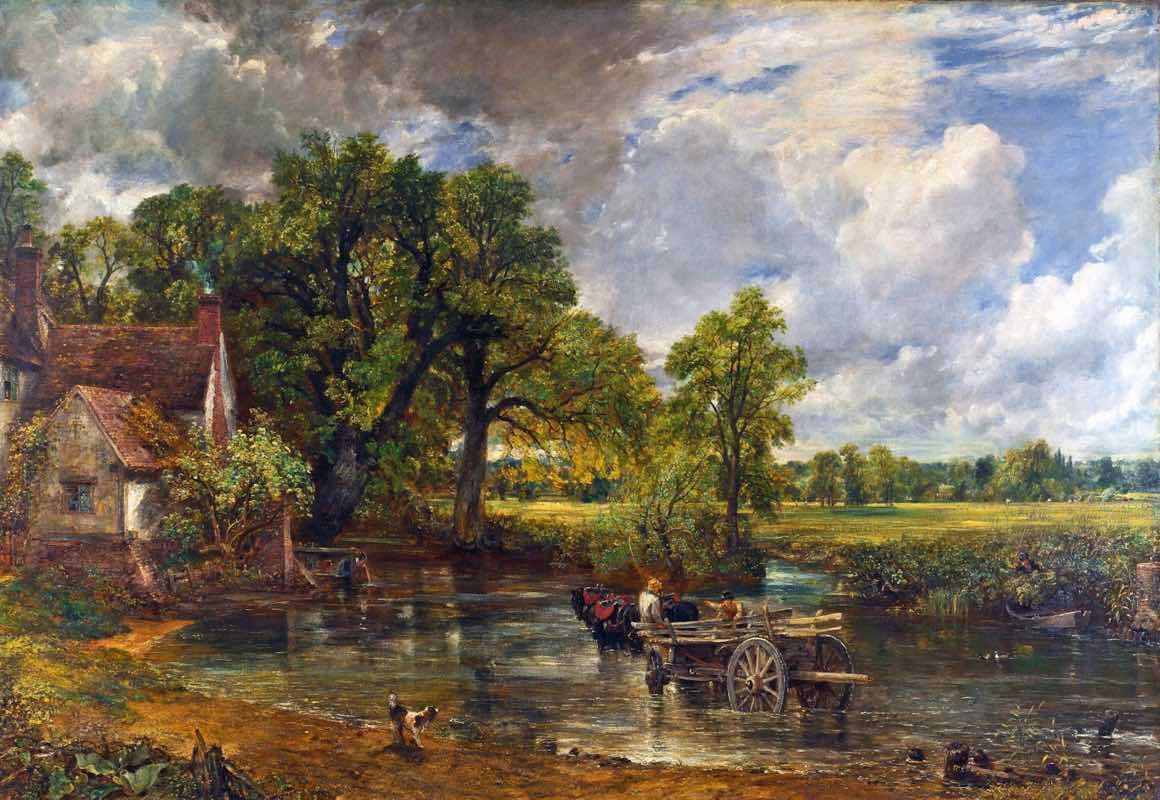 John Constable - Pejzaż z wozem