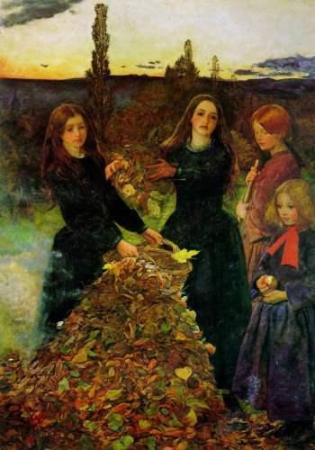 John Everett Millais - Jesienne Liście