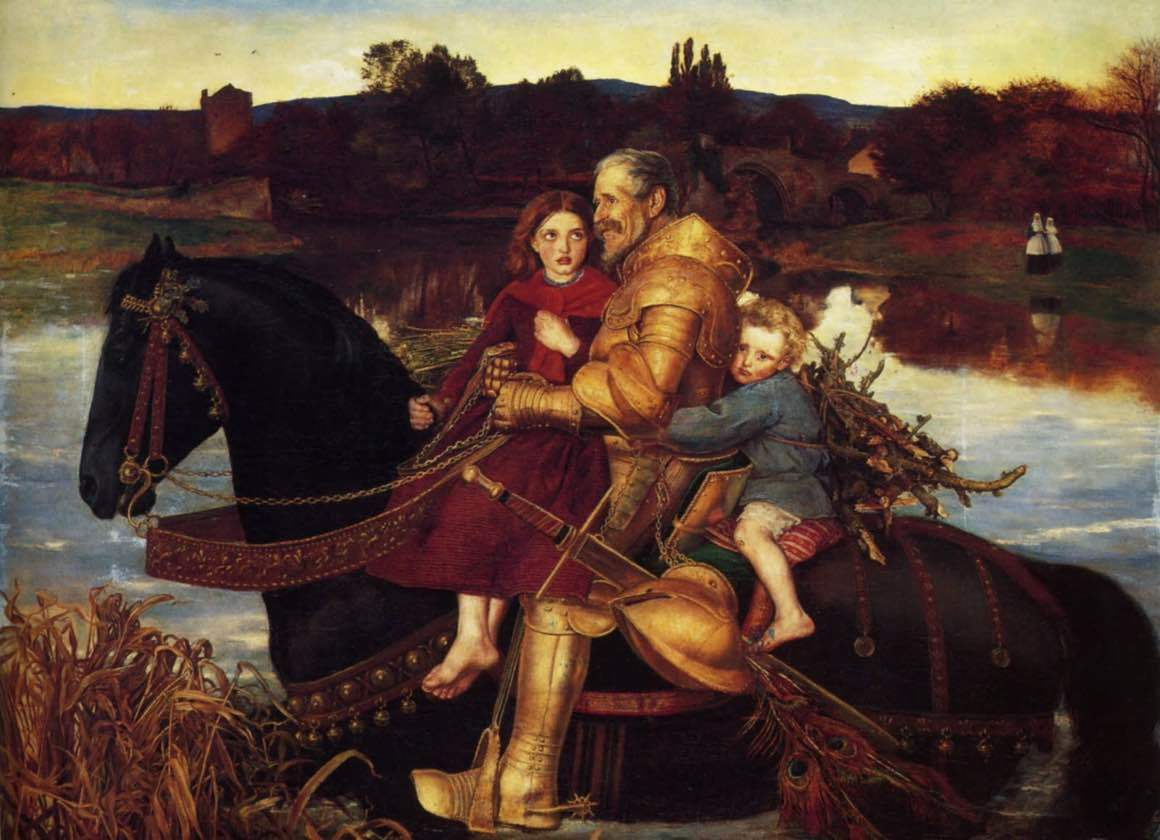 John Everett Millais - Sir Isumbras at the ford