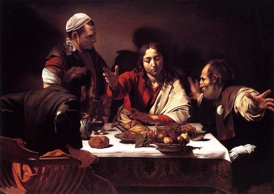 Caravaggio – Wieczerza w Emmaus