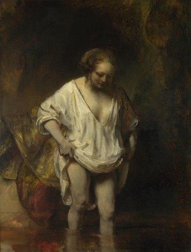 Rembrandt van Rijn – Kąpiąca się kobieta