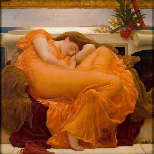 """Flaming june"" Frederic Leighton"