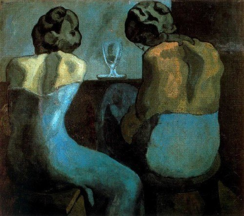 Pablo Picasso Prostitutes at a Bar 1902