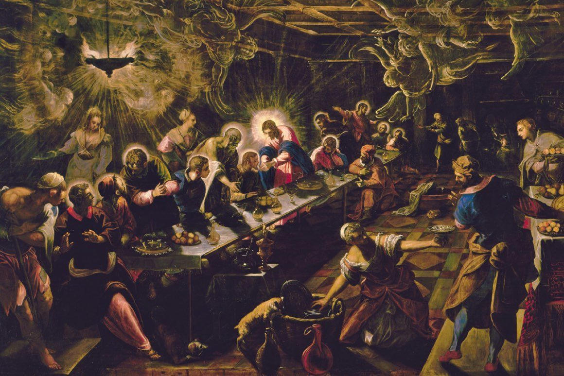 """""""Ostatnia wieczerza"""" i """"Ukrzyżowanie"""" według Tintoretta, jednego z największych malarzy wczesnego baroku"""