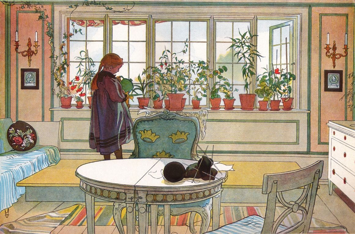 Blomsterfönstret - Carl Larsson