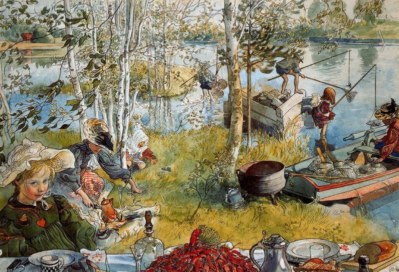 Carl Larsson The crab fishing