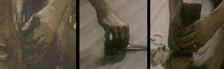 Heblujący podłogę - Gustave Caillebotte - detale