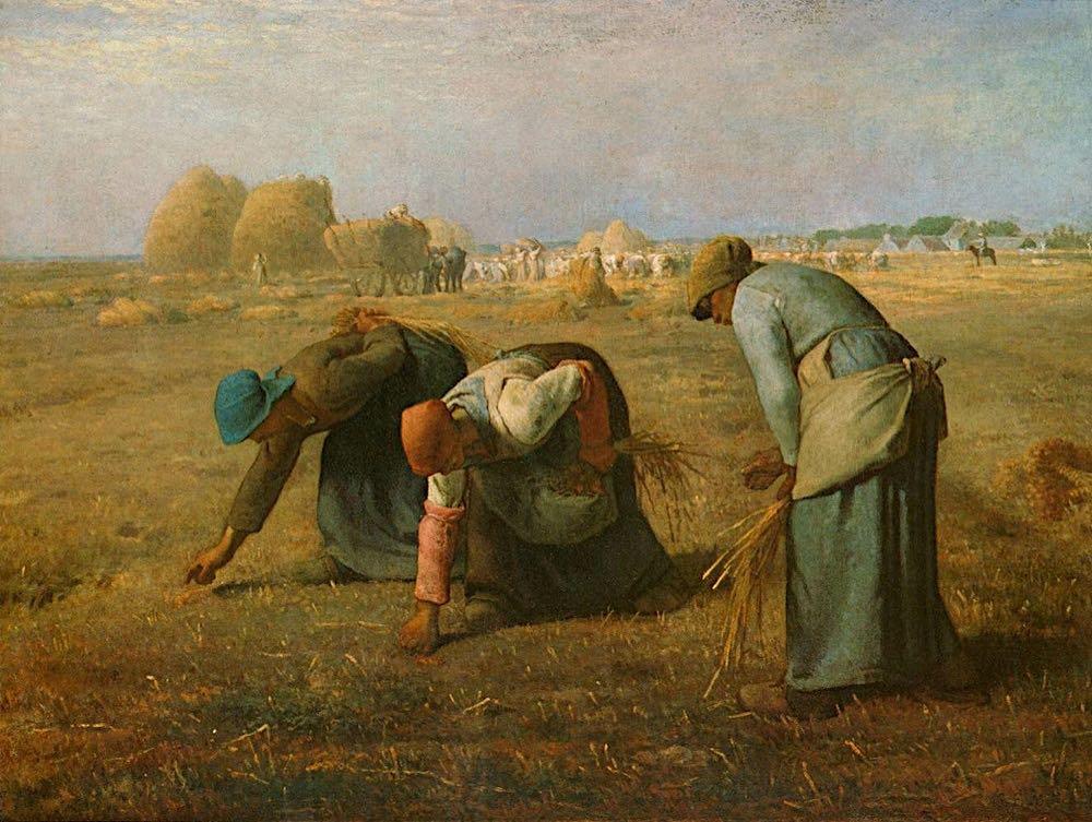 Kobiety zbierający zboże – Jean François Millet