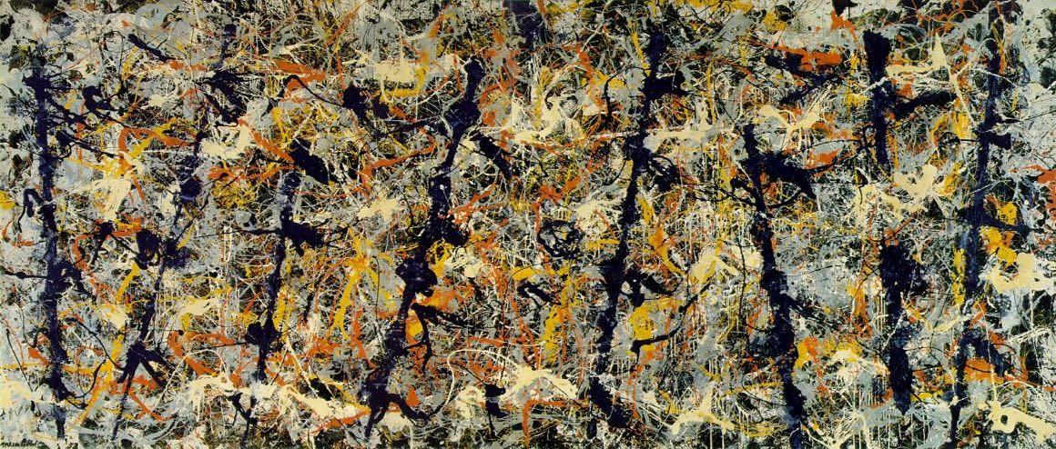 Blue Poles (numer 11) by Jackson Pollock